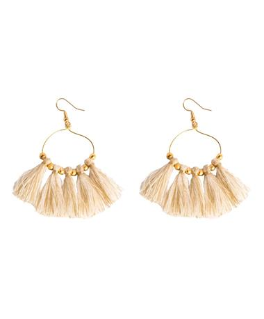 The Sunrise Loopette Earring - Ivory Ivory