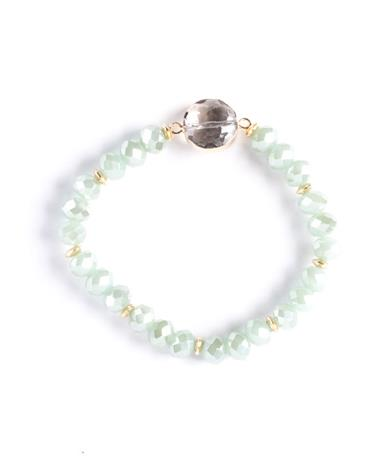 Mint Beaded Stretch Bracelet Mint