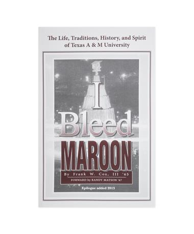 I Bleed Maroon Book By Frank Cox