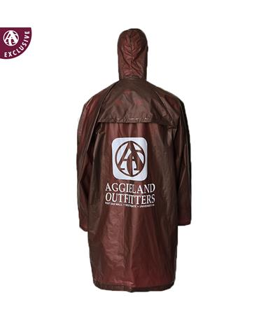 Aggieland Outiftters Maroon Poncho with Hood Maroon