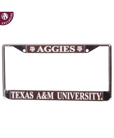 Texas A&M Aggies License Plate Frame