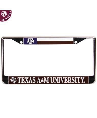 Texas A&M License Plate Texas Flag Frame