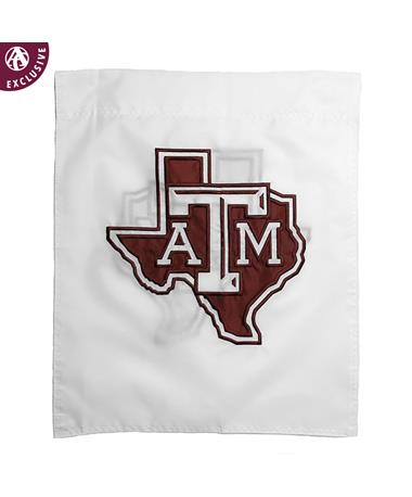 Texas A&M Lone Star White Garden Flag