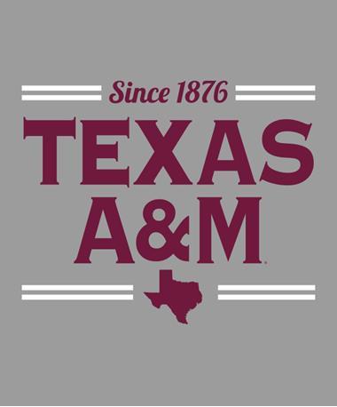 Texas A&M Aggie Spirit Stack Decal Maroon/White Maroon/White