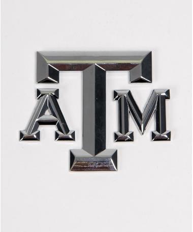 3 Piece Block A&M Logo Peel Emblem Chrome