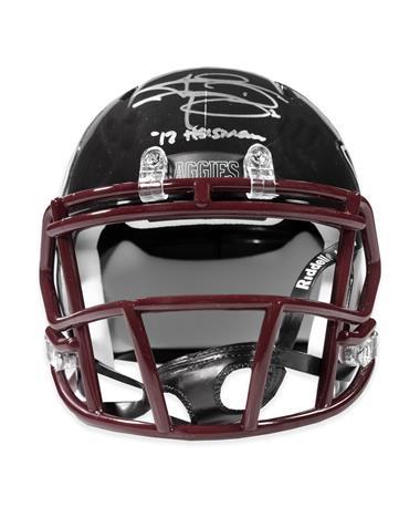 Johnny Heisman Black Mini Signed Helmet