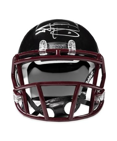 Johnny Manziel Black Mini Signed Helmet