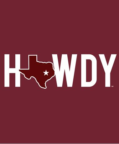 Howdy Texas Decal Maroon/White