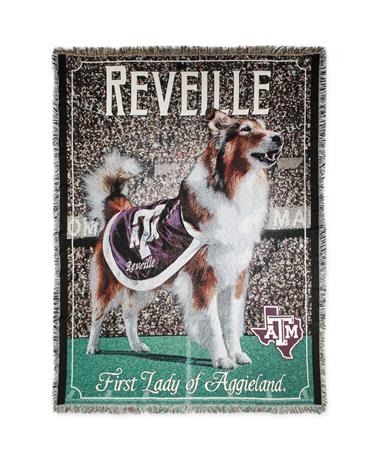 Texas A&M Reveille First Lady of Aggieland Woven Throw Maroon