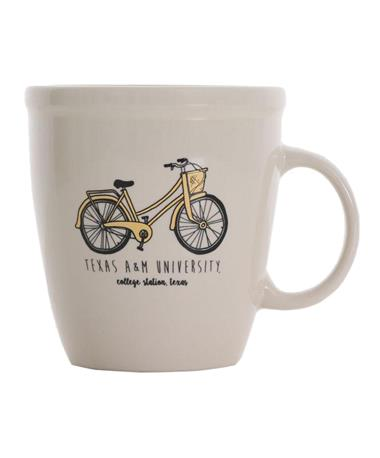 Texas A&M Aggie Bicycle Coffee Mug Natural Natural/Bicycle