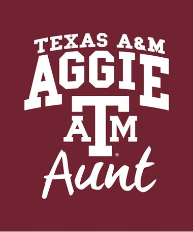 Texas A&M Aggie Aunt Decal White