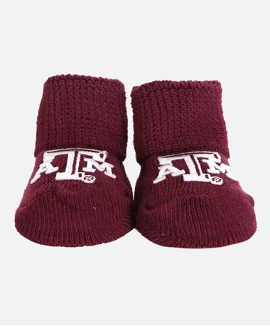 Texas A&M Aggie Booties - Front Maroon