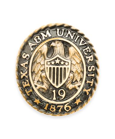 Texas A&M Aggie Ring Crest Paperweight