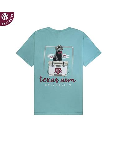 Texas A&M Youth Black Lab Puppy Cooler T-Shirt - Back Chalky Mint