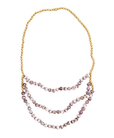 Adera Waterfall Necklace - Maroon/White Maroon/White