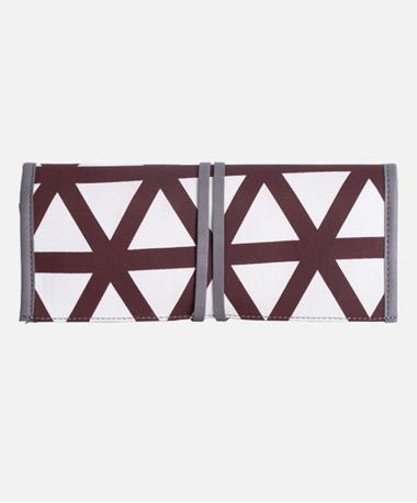 Batik Handmade Jewelry Roll - Triangle Maroon - CLosed Maroon
