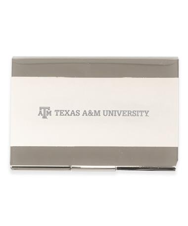 Texas A&M Laser Engraved Two-Tone Card Holder