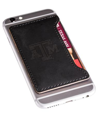 Velour Leather Cardholder Black