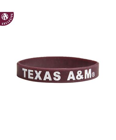 Texas A&M Spirit Band Silicon Bracelet Maroon/White
