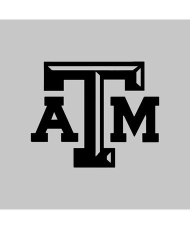 Texas A&M Aggie Small Beveled Black Decal
