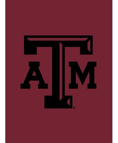 "4"" Texas A&M Beveled Decal Black Black"