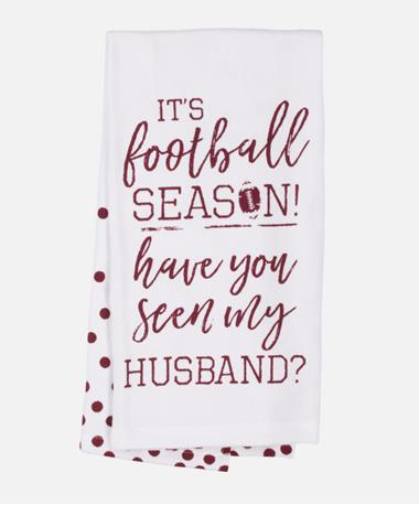 Football Season Tea Towel Football