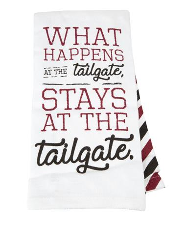What Happens At The Tailgate Tea Towel Tailgate