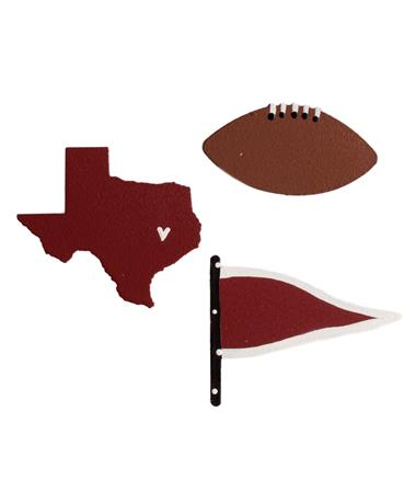 Texas Pennant Magnets Maroon White