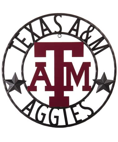 Texas A&M Aggies Stars 18 Inch Iron Wall Decor Black