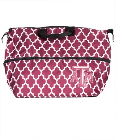 Texas A&M Expandable Insulated Bag Style Cooler Maroon
