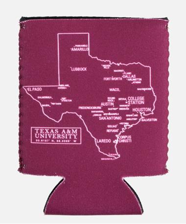 Texas A&M Aggie Kolder Kaddy Can Holder Coordinates Coordinates