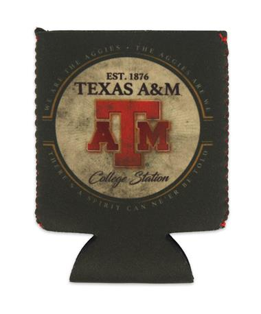 Texas A&M Aggie Kolder Kaddy Can Holder - Dos Aggies - Front Dos Aggies