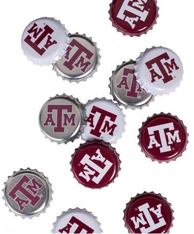 Texas A&M Aggies Bottle Caps Maroon/White