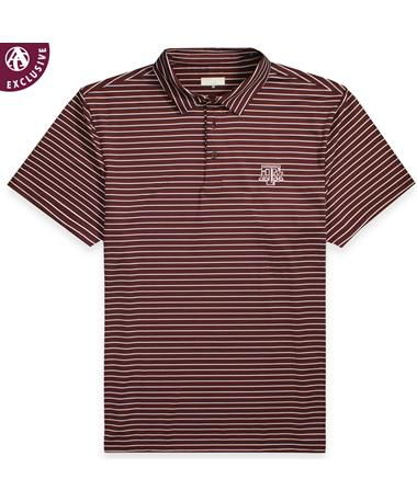 Texas A&M Aggies Maroon Stripe Men's Polo