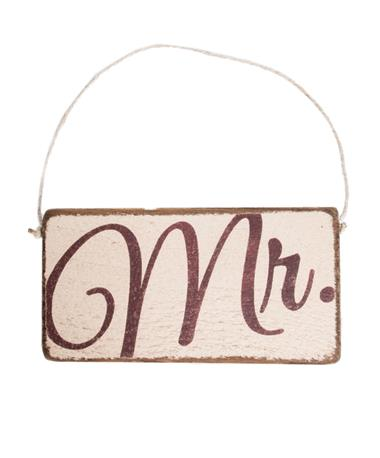 Maroon Mr. Rustic Mini Plank Sign Wood