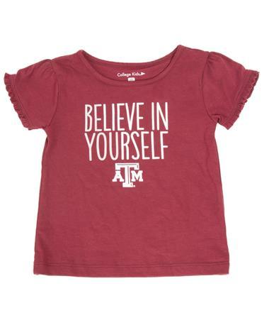 Texas A&M Toddler Ruffle T-Shirt Maroon