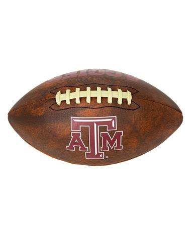 Texas A&M Full Size Vintage Football Brown