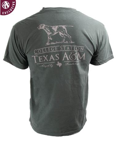 Texas A&M Aggies Pointer Loyalty Tradition T-Shirt - Back
