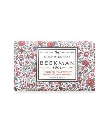 Beekman Honeyed Grapefruit Goat Milk Soap Bar - Front Misc