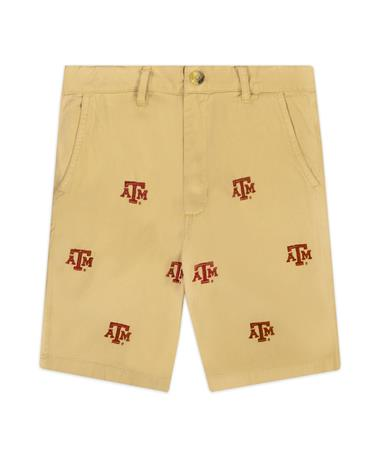 Texas A&M Wes & Willy Boys Embroidered Twill Shorts