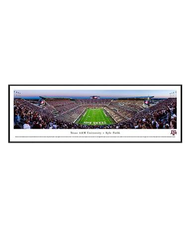 Texas A&M Kyle Field Panoramic Frame TXAM4 Dusk