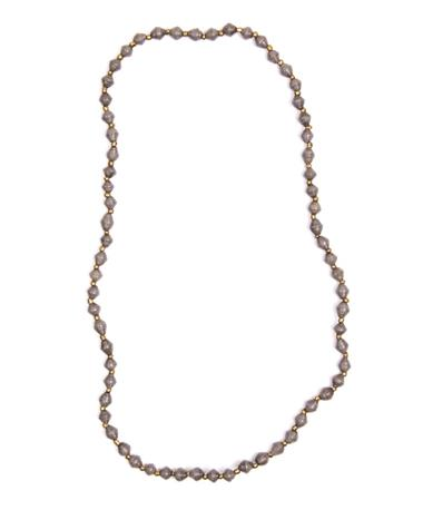 Adera Mini Bead Necklace Charcoal