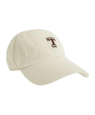 `47 Brand Texas A&M Vault T Centerfield Cap - Natural - Front Natural