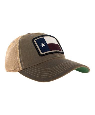 Texas Flag Contend Trucker Hat - Front Grey