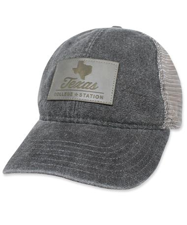 Texas College Station Legacy Hat - Front Black/Grey