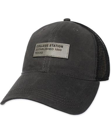 College Station Texas Legacy Hat - Front Charcoal