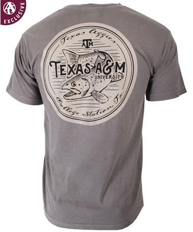 Texas A&M Aggies River Run T-Shirt Back Grey