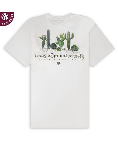 Texas A&M Aggies Sticky Garden T-Shirt - Back White