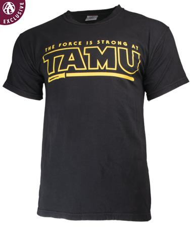 Texas A&M The Force Is Strong at TAMU T-Shirt Black