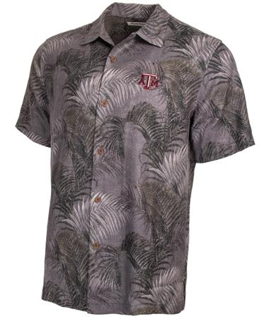 Tommy Bahama TAMU Fez Fronds Button Down Front Grey
